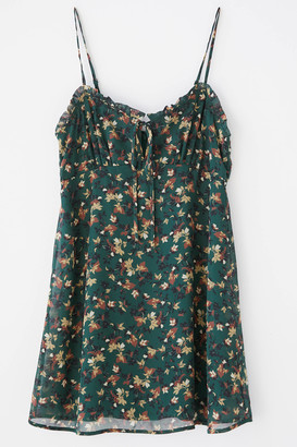 Urban Outfitters Daphne Floral Chiffon Mini Dress