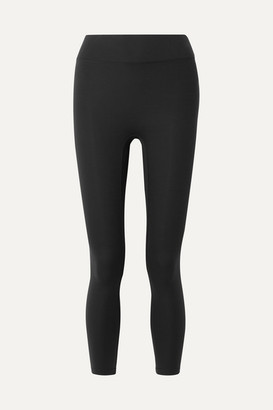 All Access Center Stage Cropped Stretch Leggings - Black