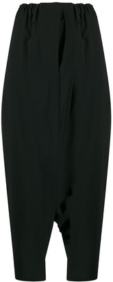 132 5. ISSEY MIYAKE Cropped Draped Trousers