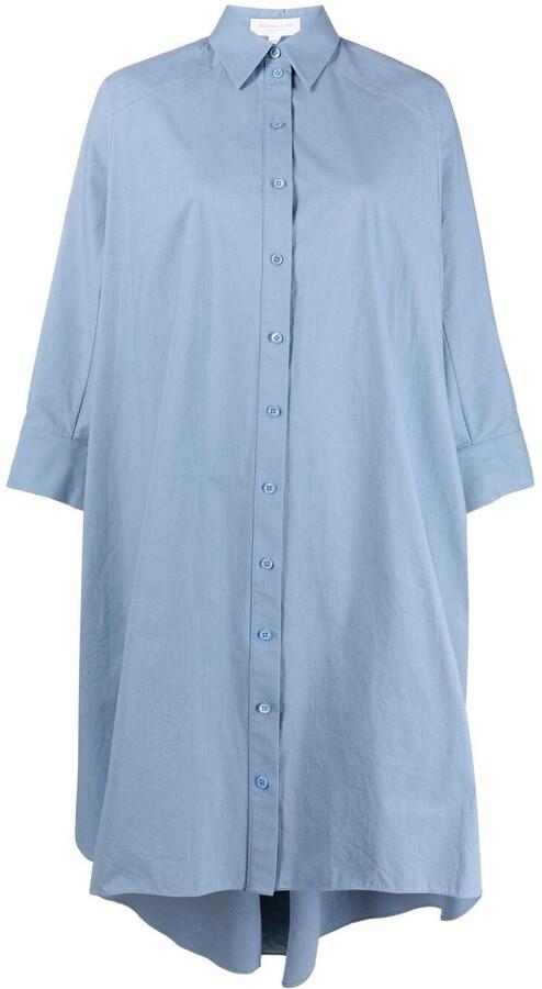 Michael Kors Collection Dolman Sleeve Poplin Shirtdress