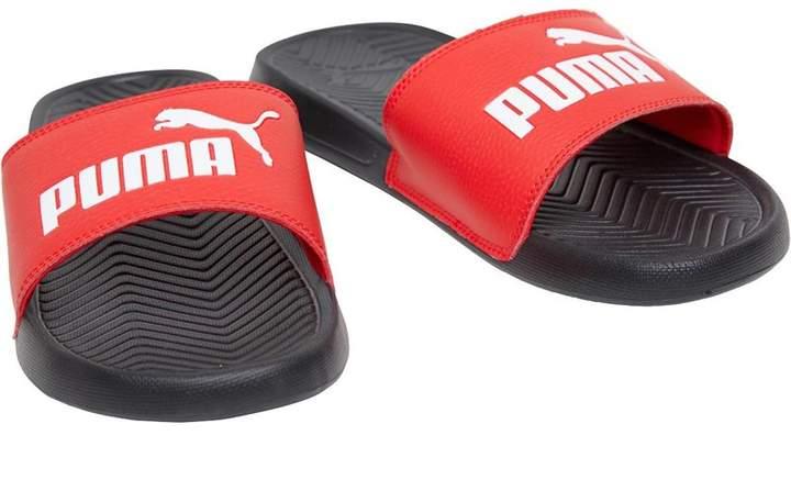 designer fashion fbbed e6732 Popcat Slide Sandals Red Black