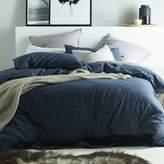 Dark Denim Linen & Cotton Quilt Cover Set