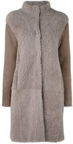 Steffen Schraut high neck coat - women - Lamb Skin/Lamb Fur - 36