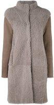 Steffen Schraut high neck coat - women - Lamb Skin/Lamb Fur - 36