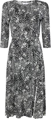 Wallis PETITE Monochrome Animal Print Midi Dress