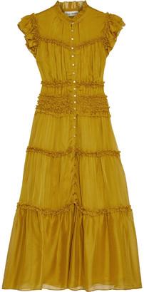 Ulla Johnson Rosalind Tiered Ruffle-trimmed Silk-chiffon Midi Dress