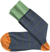 Johnston & Murphy Block Stripe Socks