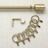 Crate & Barrel Ilsa Brass Curtain Hardware
