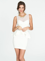 Arden B Mesh Illusion Peplum Dress