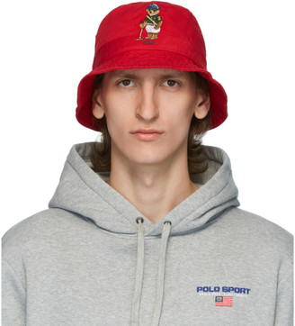Polo Ralph Lauren Red Polo Bear Bucket Hat