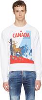 DSQUARED2 White Canada Classic Raglan Sweatshirt
