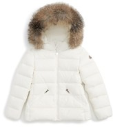 Moncler Girl's Aimeet Hooded Down Jacket With Genuine Fox Fur