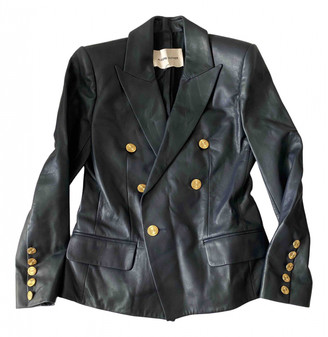 Alexandre Vauthier Navy Leather Leather jackets