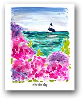 """The Well Appointed House """"Seas the Day"""" Colorful Art Print"""