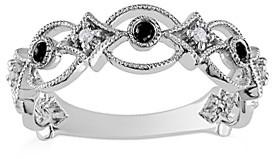 Sofia B Women's Rings Black - Black & White Diamond Vintage-Inspired Ring