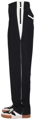 Dolce & Gabbana Cotton Blend Pants W/ Stitching Details