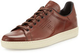 Tom Ford Warwick Leather Low-Top Sneaker, Brown
