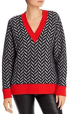 Rag & Bone Biata Herringbone Wool Sweater
