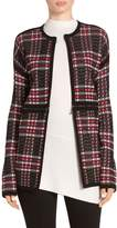 St. John Diamond Plaid Knit Cardigan