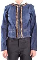 Elisabetta Franchi Women's Blue Cotton Jacket.