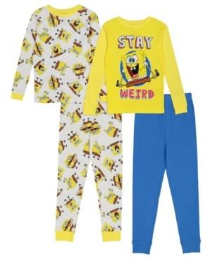 AME SpongeBob Big Boy 4 Piece Pajama Set