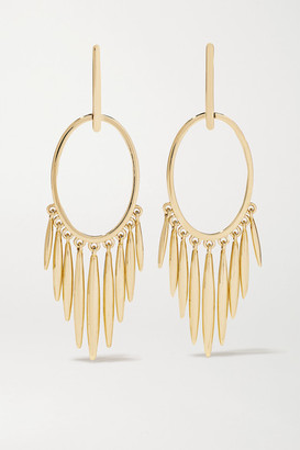 Ileana Makri Grass Sunset 18-karat Gold Earrings