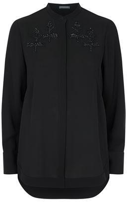 Alexander McQueen Embroidered Silk Shirt