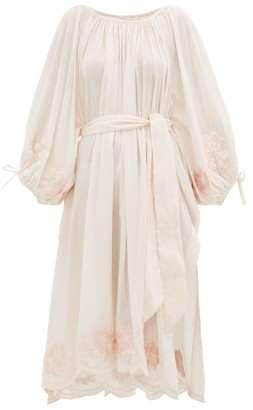 Innika Choo Embroidered Cotton Dress - Light Pink