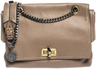 Lanvin Beige Leather Happy Flap Shoulder Bag