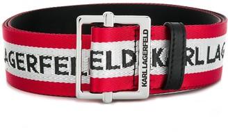 Karl Lagerfeld Paris Logo Web Belt