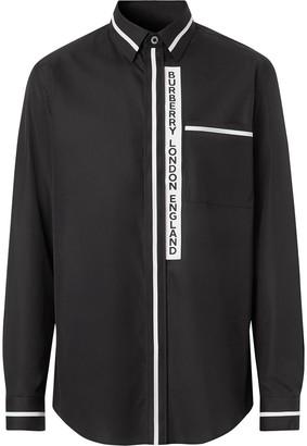 Burberry Applique Poplin Cotton Shirt