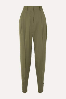 Altuzarra Atomica Pleated Wool-blend Tapered Pants - Gray