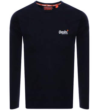 Superdry Vintage Long Sleeved T Shirt Navy
