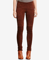 Lauren Ralph Lauren Stretch Suede Skinny Pants