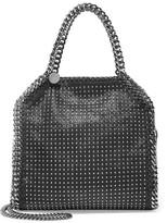 Stella McCartney The Falabella Mini Studded Faux Brushed-leather Shoulder Bag - Black