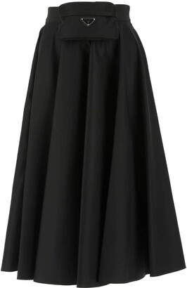 Prada Pouch Attached Flared Skirt