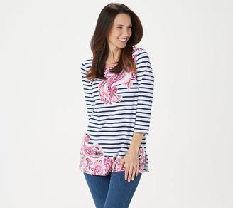 Susan Graver Weekend Printed Stretch Cotton Modal Tunic