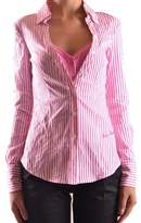 Frankie Morello Women's Pink Cotton Shirt.