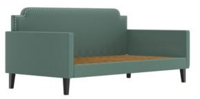 Handy Living Nederland Upholstered Twin Size Rounded Back Daybed