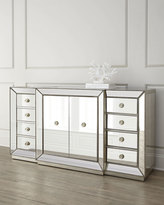 Horchow Shilo Two-Door Mirrored Sideboard