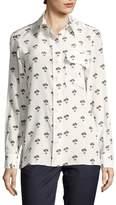 Victoria Beckham Women's Floral Button-Front Shirt