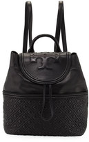 Tory Burch Fleming Quilted Leather Backpack, Black