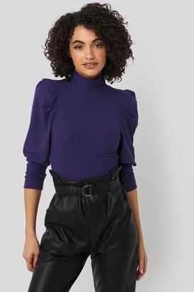 Trendyol Puff Sleeve Corded Knit Top