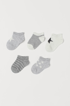H&M 5-pack Ankle Socks - Gray