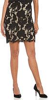 M.S.S.P. Big Flower Lace Pencil Skirt