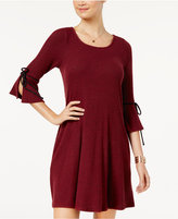 BCX Juniors' Bell-Sleeve Sweater Dress