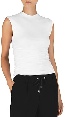 ATM Anthony Thomas Melillo Sleeveless Ruched Top