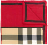 Burberry cashmere contrast border scarf