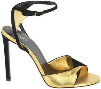 Celine Sharp Metallic High Heel Sandals