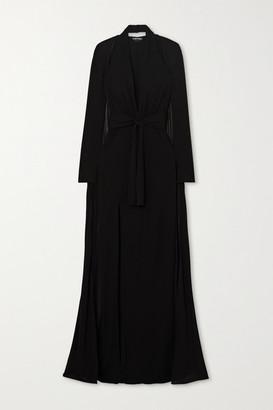 Tom Ford Cape-effect Jersey Halterneck Gown - Black